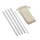 Outset 76623 Straight Stainless Steel Straw Natural Bag