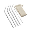 Outset 76624 Bent Stainless Steel Long Straw Natural Bag