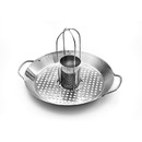Outset QS56 2-in-1 Roasting Wok, stainless-steel