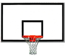 GARED 1342B-BLK Lightweight Full Sized Fiberglass Basketball Backboard, Fiberglass Backboard, 42
