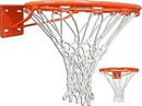 GARED 4039 High Strength Institutional Fixed Basketball Rim, Front Mount Stationary, No-Tie Net Attachment, Regulation Single 5/8