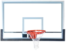 GARED BB72G50HH Outdoor Pro Style Full Sized Glass Basketball Backboard, Outdoor Glass Backboard, 42