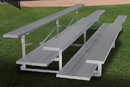 """GARED GSNB0308DFLR Spectator Stationary 7' 6"""" Low Rise Bleacher, 3 Row, Double Foot Plank"""
