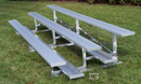 GARED GSNB0415 15' 4-Row Single Foot Plank Fixed Bleacher