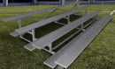 GARED GSNB0421DFLR Spectator Stationary 21' Low Rise Bleacher, 4 Row, Double Foot Plank