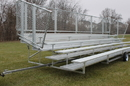 GARED GSNB0527DFTP 5-Row Transportable Spectator Bleacher Without Aisle, 10