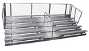 GARED GSNB0527WATP 5-Row Transportable Spectator Bleacher With Aisle, 10