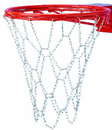 GARED SCN Steel Chain Basketball Net for Bumped Ring Goals, Non-Welded, Double Bumped Ring Goal