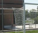GARED SNFIFA 8' X 24' FIFA-Style Touchline Soccer Net, 4 MM, White