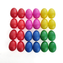 Aspire 24Pcs Egg Shakers - Mixed Color, Plastic Preschool Rhythm Educational Maracas