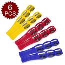Aspire Musical Toys 6 Bells Plastic Jingle Stick, 6 Pcs