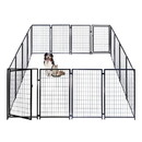 ALEKO 2DK5X5X4SQ Dog Kennel Heavy Duty Pet Playpen 10X10X4 Foot Dog Exercise Pen Cat Fence Run for Chicken Coop Hens House