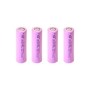 4B18650A26 Rechargeable FST 18650 2500mAh 3.6V Lithium-ion Reliable Long Lasting Battery, Pink, Lot of 4