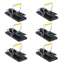 ALEKO 6MTR02S-AP Easy to Use Pest Control Snap Trap - Black - Lot of 6