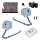 ALEKO AA1100SOL-AP Articulated Gate Opener for Dual Swing Gates - AA1100 - Solar Kit 20W