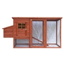 ALEKO ACCR011RD Wooden Pet Chicken Coop Poultry Hutch Chicken Hen House, 78 x 30 x 40 Inches