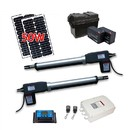 ALEKO AS1200SOL-AP Dual Swing Gate Operator - AS1200 AC/DC - Solar Kit 50W
