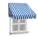 ALEKO AWWIN-BLWTSTR-AP-0002 Retractable Door Or Window Awning - 6 x 2 Feet - Blue and White Stripes