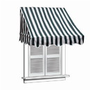 ALEKO AWWIN-GRWTSTR-AP-0002 Retractable Door Or Window Awning - 6 x 2 Feet - Green and White Stripes