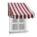 ALEKO AWWIN-MSRD-AP-0001 Retractable Door Or Window Awning - 4 x 2 Feet - Multi-Striped Red