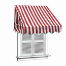 ALEKO AWWIN-RDWTSTR-AP-0002 Window Awning - 6 x 2 Feet - Red and White Stripes