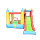 ALEKO BH0012-AP Indoor/Outdoor Inflatable Bounce House Castle with Slide - Multi Color