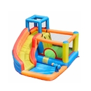 ALEKO BH0013-AP Outdoor Inflatable Bounce House with Water Sprayer and Splash Pool - Multi Color