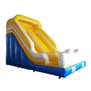 ALEKO BHC003-AP Durable Commercial Grade Outdoor Inflatable High Wet/Dry Slide Bounce House with Blower - Blue, Yellow and White