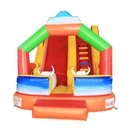 ALEKO BHC005-AP Commercial Grade Outdoor Bounce House with Wet/Dry Slide and Blower - Inflatable Bull Design - Multi-Color