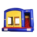 ALEKO BHC007-AP Commercial Grade Bounce House with Basketball Hoop, Slide, Climbing Wall and Blower - Blue and Yellow Banana Design