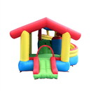 ALEKO BHHOUSE-AP Inflatable Playtime Bounce House with Double Slide and Removable Shaded Canopy