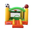 ALEKO BHSPORTS-AP Inflatable Playtime 4-In-1 Bounce House with Basketball Rim, Soccer Arena, Volleyball Net, and Slide