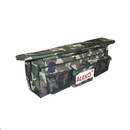 ALEKO BSB380CMV2-AP Waterproof Inflatable Boat Seat Cushion with Under Seat Bag and Pockets - 38x9 inches - Camouflage