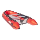 ALEKO BT420R-AP Inflatable Boat with Aluminum Floor - BT420 - 13.8 ft - Red