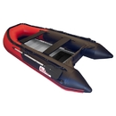 ALEKO BT420RBK-AP Inflatable Boat with Aluminum Floor - BT420 - 13.8 ft - Red and Black