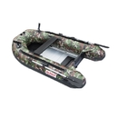 ALEKO BTF250CM PRO Fishing Boat 8.4 Feet (2.6 m) with Aluminum Floor 3 Person Inflatable Boat with Fishing Rod Holders and Front Board, Camouflage