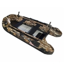 ALEKO BTF320HU PRO Fishing Boat 10.5 Feet (3.2 m) with Aluminum Floor 4 Person Inflatable Boat with Fishing Rod Holders and Front Board, Hunter Style Color