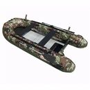ALEKO BTF380CM PRO Fishing Boat Raft 12.5 Feet (3.8 m) with Aluminum Floor 6 Person Inflatable Boat with Fishing Rod Holders and Front Board, Camouflage