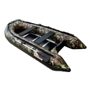 ALEKO BTSDWD320CM Inflatable 4 Person Motor Fishing Boat Raft 10.5 Feet (3.2 m) with Wood Floor, Camouflage