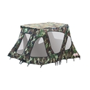ALEKO BWTENT320CM Winter Waterproof Canopy Boat Tent Covering for Inflatable Boat, Camouflage