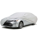 ALEKO CCF031-AP Easy Fit Weather Resistant Car Cover - Silver Coated Polyester - Up to 160 Inches