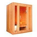 ALEKO CED3KUPA-AP CED3KUPA 3 Person Canadian Red Cedar Wood Indoor Wet Dry Sauna with 3 kW ETL Electrical Heater