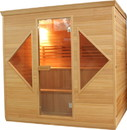 ALEKO CED6HELSINKI-AP CED6HELSINKI 4-5 Person Canadian Red Cedar Wood Indoor Wet Dry Sauna with 4.5 kW ETL Electrical Heater