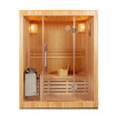 ALEKO CEDA3DON-AP Canadian Red Cedar Indoor Wet Dry Sauna - 3 kW ETL Certified Heater - 3 Person