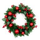 ALEKO CHDW17RD-AP Decorative Holiday Christmas Wreath - Green and Red