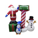 ALEKO CHID003-AP Inflatable Christmas Crew with UL Certified Blower and Welcome Sign  - 6 Foot