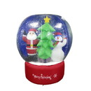 ALEKO CHID004-AP Inflatable LED Christmas Snow Globe with Merry Christmas Sign - 5 Foot