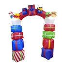 ALEKO CHID005-AP Giant Inflatable Gift Stacked Archway with UL Certified Blower and LED Lights - 8 Foot