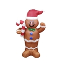 ALEKO CHID007-AP Large Inflatable LED Waving Gingerbread Man with UL Certified Blower - 5 Foot
