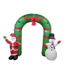 ALEKO CHID010-AP Giant Inflatable Santa and Snowman Holiday Greeting Archway with UL Certified Blower and LED Lights - 8 Foot